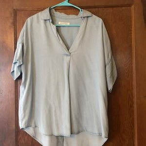 Fun chambray tunic top